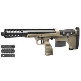 Sniper Softair - Silverback Desert Tech SRS-A1 Covert 16 Zoll Pull-Bolt Bullpup Springer 6mm BB Flat Dark Earth
