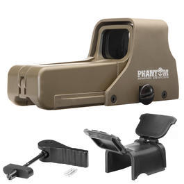 Phantom 552 Red- / Green-Dot Holosight Desert Tan inkl. Staubschutzaufsatz