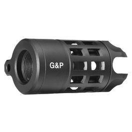 G&P Capture Iron Bars Style Aluminium Flash-Hider schwarz 14mm+ / 14mm-