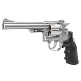 Softair ab 14 - UHC M-19 6 Zoll Revolver mit Hülsen Springer 6mm BB silber / schwarz