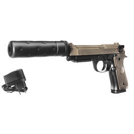 Umarex Beretta M92 A1 Tactical Metallschlitten Komplettset AEP 6mm BB Dark Earth Brown