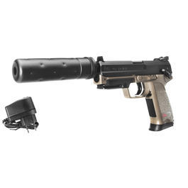 Umarex Heckler & Koch USP Tactical Metallschlitten Komplettset AEP 6mm BB Dark Earth Brown