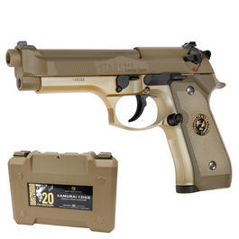 Tokyo Marui Biohazard Samurai Edge GBB 6mm BB Desert Tan - 20 Years Limited Edition