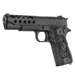 Wei-ETech M1911 Hex Cut Version Punisher Vollmetall GBB 6mm BB schwarz