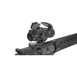 Combat Machine CM16 R8 Long-Type inkl. Red-Dot Komplettset AEG 6mm BB schwarz