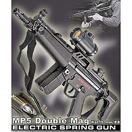 Softair AEG MP5 Double Mag 6 mm BB Set