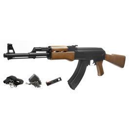 Sportwaffen - Mod. 47 Softair Komplettset AEG 6mm BB schwarz / braun