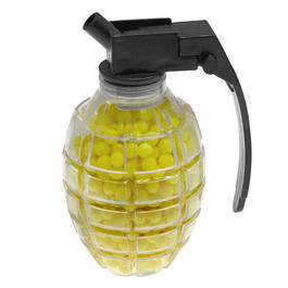 Softair 6mm - Softairkugeln 6mm BB Handgranate 800 Stück 0,12g gelb