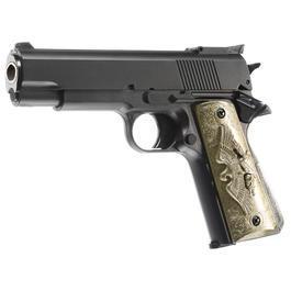 HFC M1911 Eagle-Style Gas NBB Softairpistole 6mm BB schwarz
