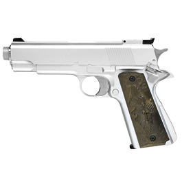 HFC M1911 Eagle-Style Gas NBB Softairpistole 6mm BB silber