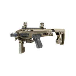 CAA Airsoft Division RONI Carbine Conversion Kit f. TM / KSC / WE G17 / G18C / G18 / G23F Dark Earth