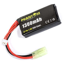 Phantom Airsoft LiPo Akku 7,4V 1300mAh 20C Shorty Small-Type