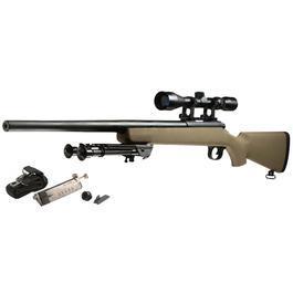 Snow Wolf VSR-10 Snipergewehr inkl. Zweibein / Zielfernrohr Springer 6mm BB tan