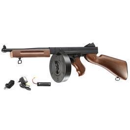 Well M1A1 WWII Softair Komplettset AEG 6mm BB schwarz / Holzoptik