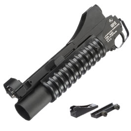 Cybergun Colt M203 40mm Granatwerfer Vollmetall (3in1) schwarz - kurze Version