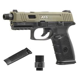 ICS BLE XFG mit Metallschlitten GBB 6mm BB oliv / schwarz