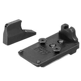 Action Army AAP-01 Stahl RMR Sight Direkthalterung inkl. Visierung vorne schwarz