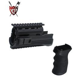 King Arms AK47S Railed Handguard & Tac. Grip schwarz