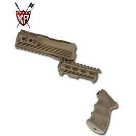 King Arms AK47S Railed Handguard & Tac. Grip OD oliv