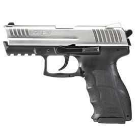 Signalwaffen - Heckler & Koch P30 Schreckschuss Pistole 9mm P.A.K. vernickelter Schlitten bicolor