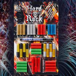 Signalmunition - Hard Rock Los Angeles Feuerwerk Sortiment 45-teilig für Schreckschusswaffen
