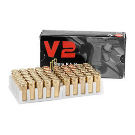 Pobjeda Knallpatronen vermessingt V2 Gold 9mm P.A.K. 50 St�ck