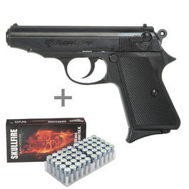 ME 9 Para Schreckschuss Pistole + 50 Platzpatronen Skullfire