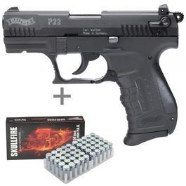 Walther P22 - Walther P22 Schreckschuss Pistole inkl. 50 Schuss Marken-Platzpatronen