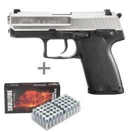 Signalwaffen - ME IWG SP15 Compact Schreckschuss Pistole titan look + 50 Platzpatronen