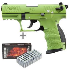 Umarex Waffen - Walther P22Q Zombster Schreckschuss Pistole 9mm P.A.K. inkl. 50 Schuss Platzpatronen
