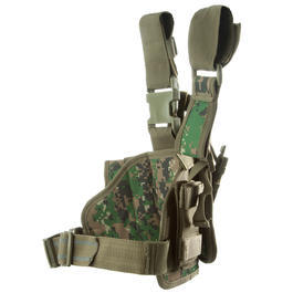 101 INC. Beinholster MOLLE rechts digital camo