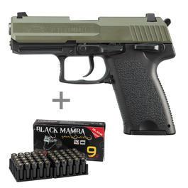 Pyrotechnik - ME SP15 Schreckschuss Pistole inkl. 50 Schuss Marken-Platzpatronen