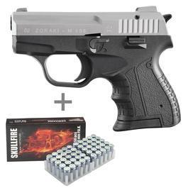 Signalwaffen - ZorakiModell 906 Schreckschuss Pistole9mm P.A.K. bicolor inkl. 50 Schuss Pobjeda Skullfire