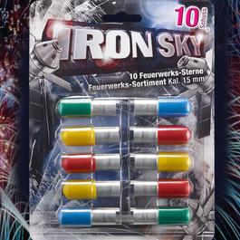 Signalmunition - Iron Sky farbintensive Feuerwerk Signalsterne 10 Schuss bunt gemischt