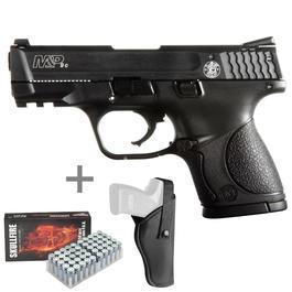 Smith & Wesson M&P 9C Schreckschusspistole 9mm P.A.K. inkl. Holster & Marken-Platzpatronen