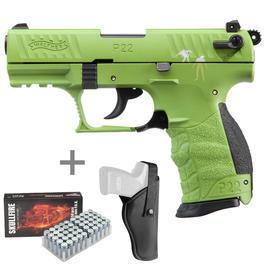 Umarex Waffen - Walther P22Q ZombsterSchreckschuss Pistoleinkl. Gürtelholster u. Marken-Platzpatronen