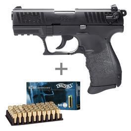 Walther P22Q Schreckschuss Pistole 9mm P.A.K. brüniert inkl. Walther Platzpatronen