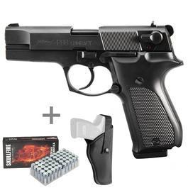 Walther P88 Schreckschuss Pistole 9mm P.A.K. schwarz inkl. Holster u. Marken-Platzpatronen