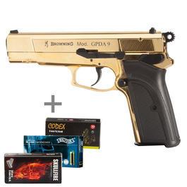 Browning GPDA9 Schreckschuss Pistole 9mm P.A.K. gold inkl. 150 Marken-Plazpatronen