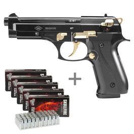 Ekol Firat Magnum Schreckschuss Pistole 9mm P.A.K. schwarz/gold inkl. 250 Platzpatronen
