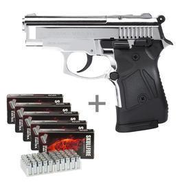 Signalwaffen - Zoraki 914 chrom Schreckschuss Pistole 9mm P.A.K. inkl. 250 Platzpatronen