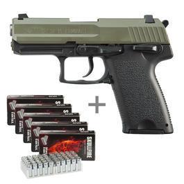 ME IWG SP15 Schreckschuss Pistole Kal. 9 mm P.A.K. oliv inkl. 250 Platzpatronen