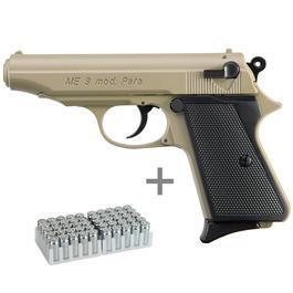 Signalwaffen - ME 9 Para Schreckschusspistole 9mm P.A.K. sand inkl. 50 Schuss Marken-Knallpatronen