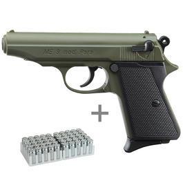 Pyrotechnik - ME 9 Para Schreckschusspistole 9mm P.A.K. oliv inkl. 50 Schuss Marken-Knallpatronen