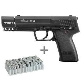 Signalwaffen - Röhm RG 96 Match Schreckschusspistole 9mm P.A.K. inkl. 50 Schuss Marken-Knallpatronen