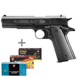 Colt Government 1911 A1 Schreckschusspistole 9mm P.A.K. brüniert inkl. 150 Schuss Marken-Platzpatronen