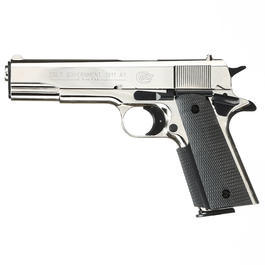 Colt Government 1911 A1 Schreckschuss Pistole 9mm P.A.K. polished chrome