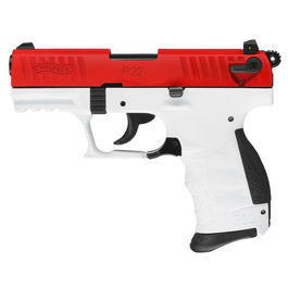 "Walther P22 - Walther P22Q ""Team Edition"" rot / weiß Schreckschuss Pistole 9mm P.A.K."