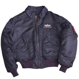 CWU-45/P Fliegerjacke Alpha Industries, navy-blau