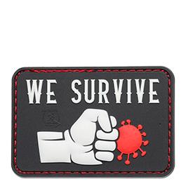 JTG 3D Rubber Patch mit Klettfläche We Survive Punch the Virus swat